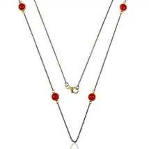Pink Chalcedony Black Rhodium 925 Silver 38 Inch Necklace Gemstone Jewelry - $29.70