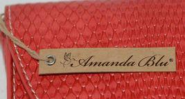 Amanda Blu 85088Chr Large Bright Red Clutch Inside Pockets image 5