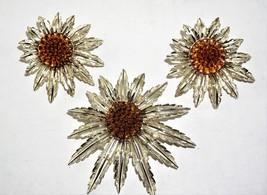 """Vintage Sarah Coventry """"Starburst"""" Brooch & Earrings Set  1960""""s? - $34.06"""
