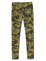 Gap Kids Girls Leggings 6 7 8 Green Camouflage Star Print Elastic Waist ... - $15.99