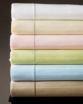 Sferra Marcus Striped Green Cal King Sheet Set Neiman Cotton Sateen 400TC NEW - $180.00