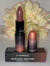MAC LOVE ME Lipstick Full Size 409 COFFEE & CIGS New In Box Authentic Fa... - $14.80