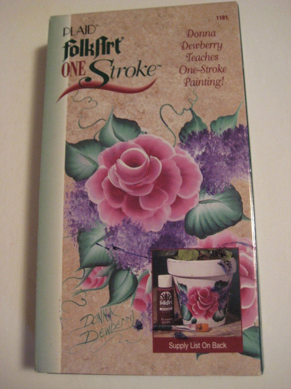 Plaid Folkart One Stroke Donna Dewberry Teaches One Stroke Painting Vhs