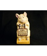 "Vintage Cast Iron Pig Bank ""Thrifty"" The Wise Pig, Reproduction, Good Co... - $58.75"