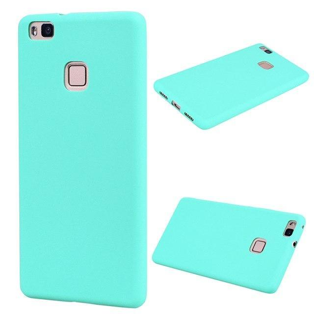 Black For Coque Huawei P9 Lite Case Soft TPU Silicone Back Cover For Huawei Asce