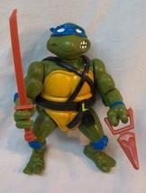VINTAGE 1988 TEENAGE MUTANT NINJA TURTLES LEONARDO TURTLE Action Figure Toy - $19.80