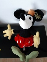 Disney Store Minnie Mouse Corduroy Vintage Design Plush Stuffed Animal 1... - $24.70