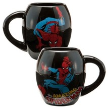 Marvel Comics The Amazing Spider-Man and Name 18 oz Oval Ceramic Mug NEW UNUSED - £5.85 GBP
