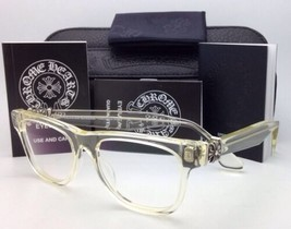 New CHROME HEARTS Eyeglasses HARD WC Clear - Buff Frames w/ Sterling Silver .925
