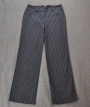Women's ANN TAYLOR LOFT Gray Striped Marisa Dress Career Pants size 4 - $15.19