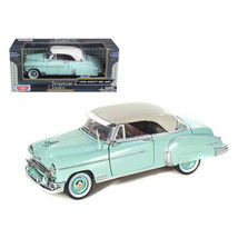 1950 Chevrolet Bel Air Green with Cream Top 1/24 Diecast Model Car by Motormax 7 - $31.49