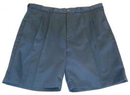 Roundtree & Yorke Size 44 Waist EXPANDER WAIST Navy Blue Pleated New Men... - $33.18