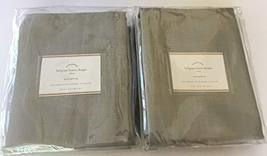 "Pottery Barn Belgian Flax Linen Drape ~3 in 1~Set of Two Panels~ 50"" x 96~Gray~ - $279.00"
