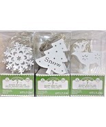 Led Lights String Holiday Time  Metal Battery 4 Ft Deer Snowflake Tree 3... - $9.47