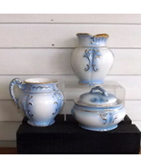 Bathroom Set 3 pieces Shades of Blue and Gold Unbranded - $29.99