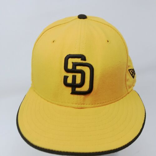 New Era 59Fifty San Diego Padres 7 5/8 Fitted USA Wool Hat Gold & Brown image 2