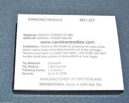 NP-7 DIAMOND Needle for Crosley KEEPSAKE DIRECTOR Turntable Phonograph 901-D7 image 2