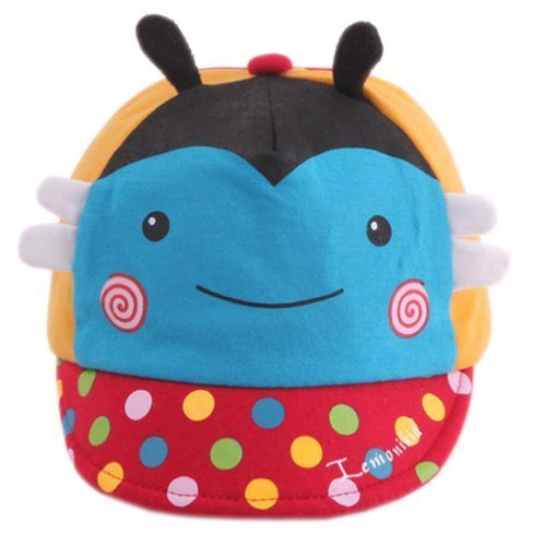 Cute Infant Sun Protection Hat Baby Beaked Cap Toddler Floppy Cap Cute Bee Blue