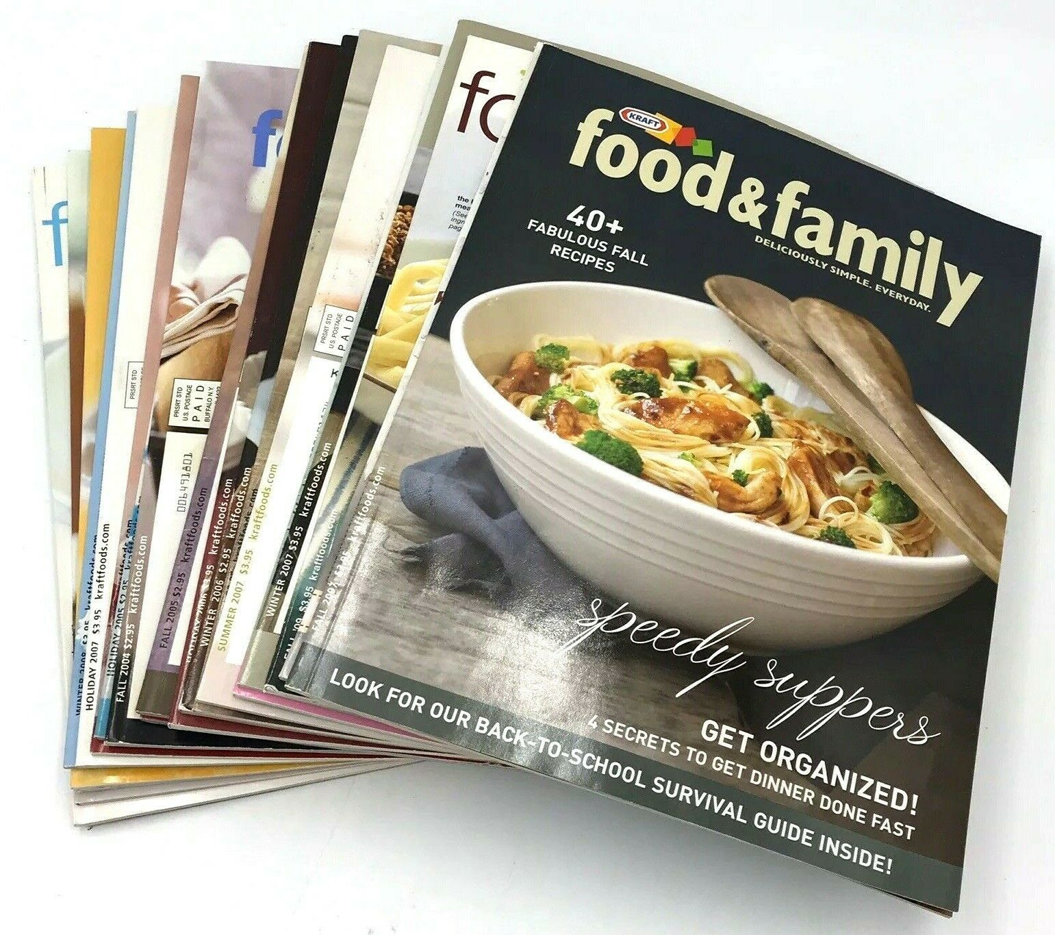Primary image for 21 Kraft Food & Family Magazine Lot 2004-2009 Recipes Dessert Meals Beverage