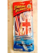 Soaring Planes Foam Gliders With Spinning Propellers New in Package BRIT... - $2.71