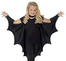 Vampire Costume Kids Bat Wings Accessories Boys Girls One Size Black Hal... - £10.64 GBP
