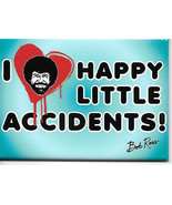 Bob Ross Joy of Painting I Heart Happy Little Accidents Refrigerator Mag... - $3.99