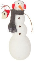 "Raz 15.75"" Alpine Chic Snowman Holding Birdhouse Christmas Table Decor - $41.32"