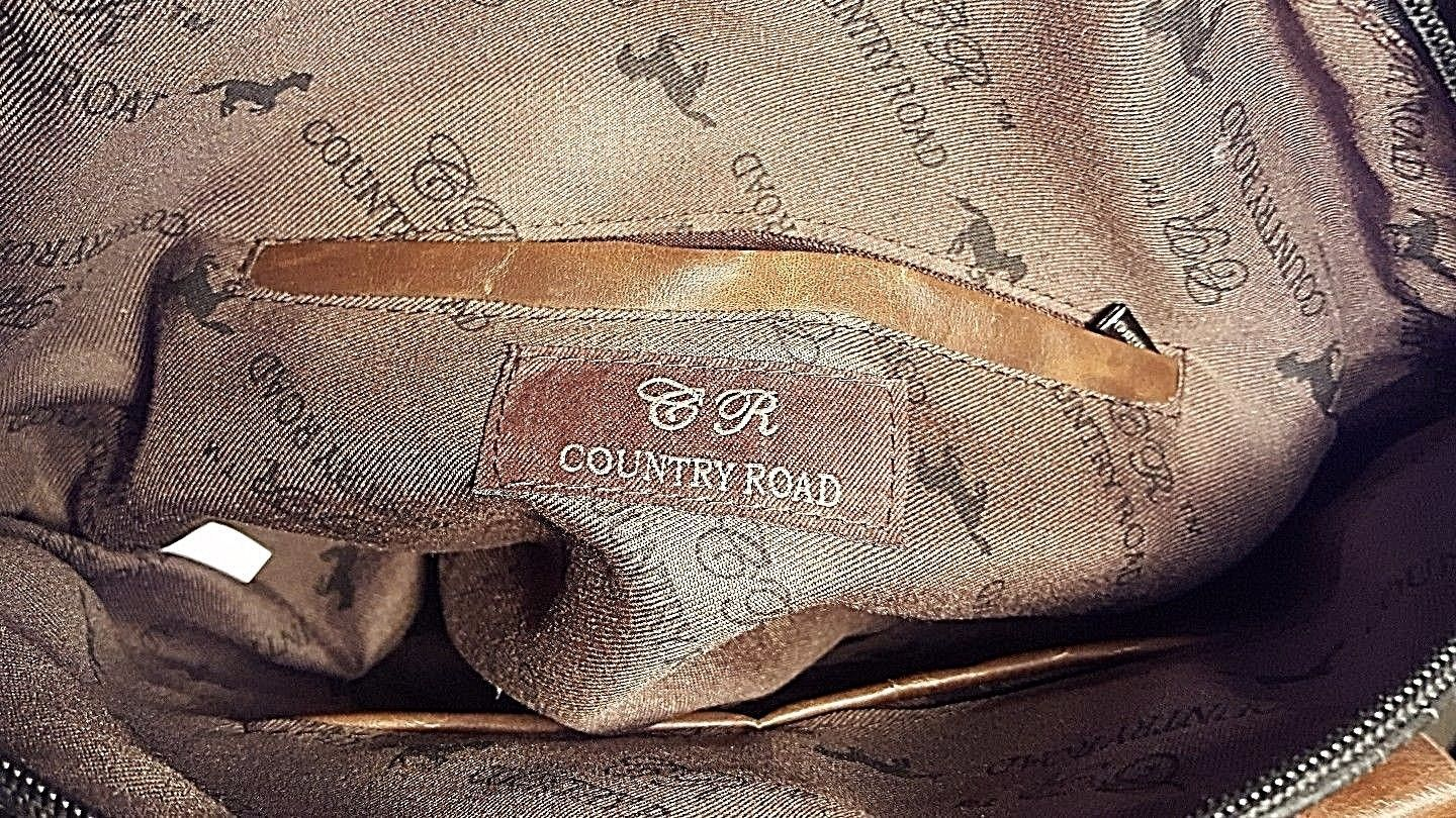 Vintage Country Road Leather Purse W/Studded General Lee Dukes Of Hazard Flag image 9