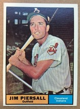 1961 Topps #345 Jim Piersall Baseball Card EX Condition Cleveland Indian... - $3.99
