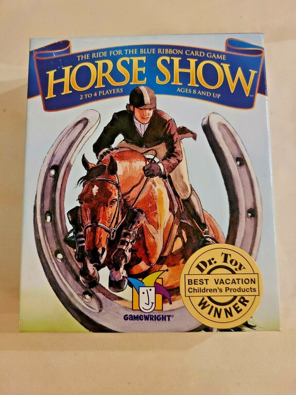 Primary image for Horse Show Ride for Blue Ribbon Card Game open box complete Gamewright 2007