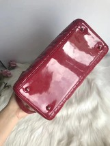 AUTH Christian Dior Lady Dior Large Red Patent Leather Cannage Shoulder Tote Bag image 4