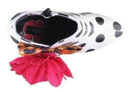 Iron Fist White Black Polkadot Leopard Lolita Love High Heels Platform Shoes NIB image 6