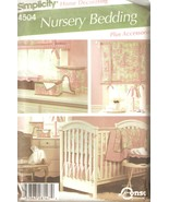 Nursery Bedding & Accessories Sewing Pattern Simplicity Home Decor 4504 ... - $8.99