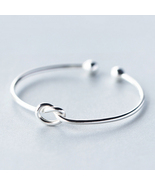 Fashion knot 925 sterling silver bangle opening free size  - $48.87
