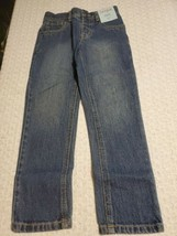 Cat & Jack Boy Toddler Size 5T Straight Adjustable Waist Blue Jeans G1143A - $7.34