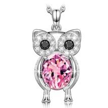 """Owl of Minerva"" 925 Sterling Silver Women Pendant Necklace, Owl Neckl - $90.28"