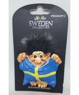 Sweden Collection Polyresin Souvenir Hisab Joker Troll Flag Fridge Magnet - $24.99