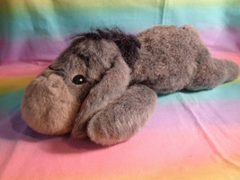 "Disney Winnie The Pooh Eeyore Grey Floppy Beanbag Laying Plush 15"" - $15.35"