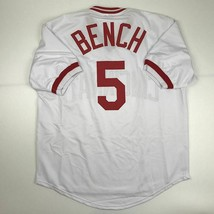New JOHNNY BENCH Cincinnati White Custom Stitched Baseball Jersey Size M... - $49.99