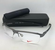 Neu Nike Brille 6050 068 55-14 145 Halbrand Rotguss Titan W / Schwarz - $199.57