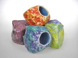 Blue Bay Safe Ceramic Aquarium Decoration Cave Environments Ornaments,6p... - $20.10