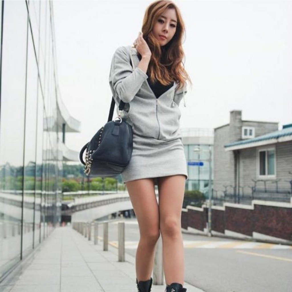 Wing Printed Hooded Sweatshirt Dress