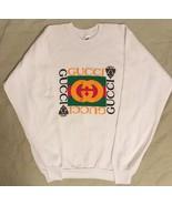 Vintage 90s Dapper Dan Bootleg Gucci White Crewneck Sweater Sweatshirt U... - $399.99