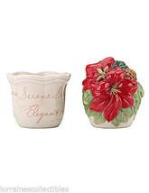 Lenox Winter Meadow Flower Pot Salt and Pepper Set NEW IN BOX - $29.69