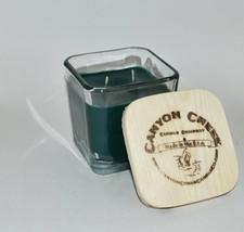 New Canyon Creek Candle Company 14oz Cube Jar Holiday Wreath Handmade! - $44.94
