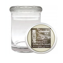 Tiki Statues D9 ODORLESS AIR TIGHT MEDICAL GLASS JAR CONTAINER Polynesian - $10.84