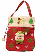 PANDA SUPERSTORE Set of 3 Fruit Basket Candy Bag Christmas Decorations Snowman G