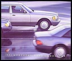 1991 Mercedes-Benz Dlx Brochure, 300, S-Class, 54 pgs - $8.69