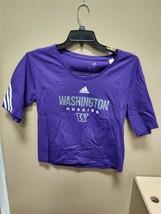 Adidas Washington Huskies Fashion Tee Womens Small Purple H66663 - $14.25