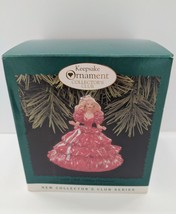 Happy Holidays Barbie Ornament Hallmark Collectors Club Edition 1996 New in Box - $14.80